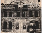 Pabst Brewing Print - Pabst Brewing Ground Milwaukee Art Print - Black and White Pabst Print