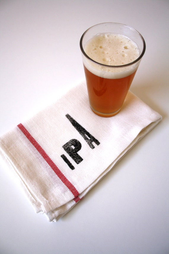 Beer Lovers Towels / IPA / Stout / Porter / Pilsner / Set of 4 Towels / Gifts for Him /