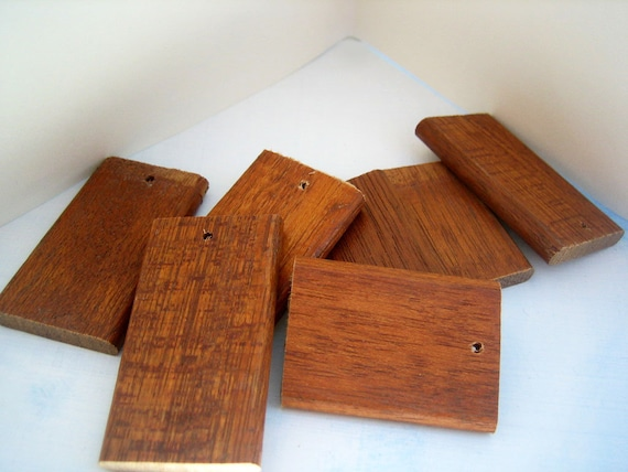 wooden pieces reclaimed supply salvaged wood pendant or crafts
