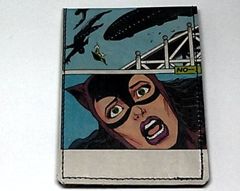 Sewn Duct Tape Comic Book Wallet - Catwoman Design 5