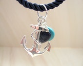 Anchor necklace  Nautical style Nautical jewelry Nautical necklace
