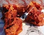Hand Dyed Seam Binding Ribbon Monarch