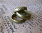 1 PC Unfinished Raw Brass Ring Band / Love - Sz 7 - VV20