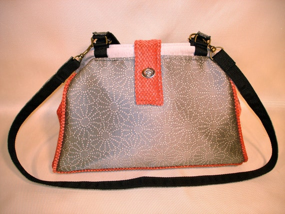 Bella Tapestry Knitting/Crochet Handbag-PEWTER PUNCH