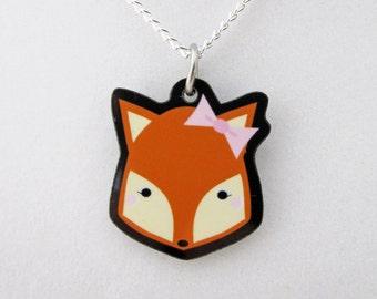 Cutie Pie Woodland Friends Kawaii Fox Pendant