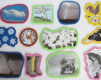 The Weather Felt Board Set, Weather Flannel Board, Science Felt Board Set, Homeschool Preschool