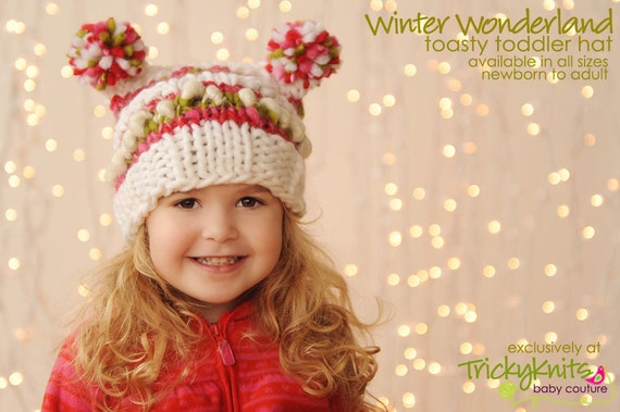 Items similar to Toddler Christmas Hat Baby Girl Christmas Hat ...