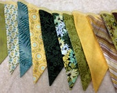 FREE SHIPPING limited time-Garden Party Fabric Bunting