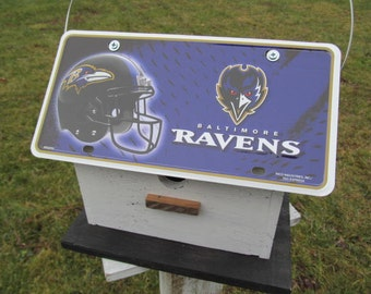 NFL Baltimore Ravens License Plate Primitive Birdhouse Football