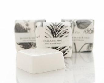 SALE - Balsam & Fir Shea Butter Soap - Guest Sized Bar