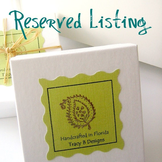 RESERVED Listing for Linda --  Fabric Flower Gift Tags, Lavender Sachet,  Fabric Flower Embellishments