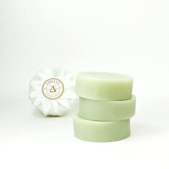 Rosemary Mint Herbal Soap | Premium Round Soap, Essential Oil Soap, Luxury Gift Soap | Rosemary Mint Soap