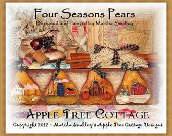 "E Pattern - Martha Smalley's Apple Tree Cottage Designs - ""Four Seasons Pears"""