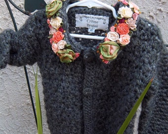 Creme Brulee Toddler Sweater- Forest Flowers-Limited Edition-By Order