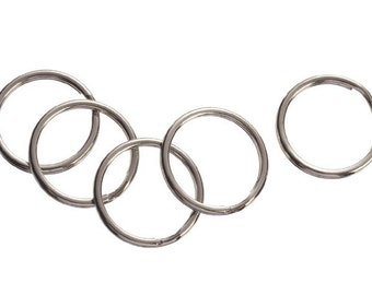 22mm Silver Split Key Rings 144 rings, silver split rings, key chain rings, key rings
