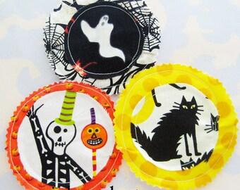 Halloween Fabric Applique Embellishments Set of Three