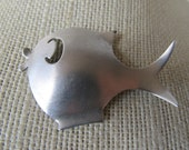 SALE Vintage 1940s Sterling Fish Brooch By Beaucraft, Was 39.99 Now 34.99