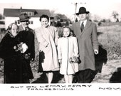 Vintage Original Photo from 1941-  Family Picture with Grandma on Thanksgiving
