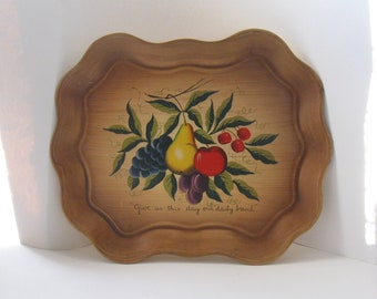 Vintage Nashco Hand Painted Serving Tray