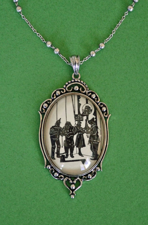 Sale 20% Off // The WIZARD of OZ Necklace, pendant on chain - Silhouette Jewelry // Coupon Code SALE20