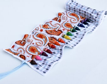 Roll Up Crayon Holder or Marker Holder Crayons Included