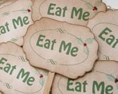 Christmas Candy Buffet Picks - Eat Me Food Labels - Set of 6