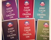 Keep Calm and Obama On card set - 6 folded cards
