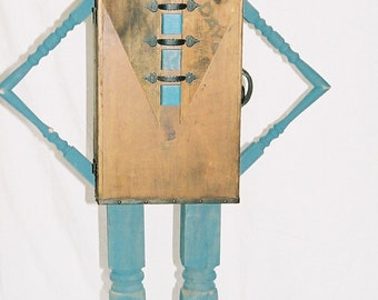Junk Man Sculpture Made From Found Objects  Life Size