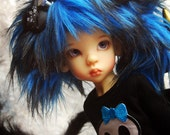 "Fancy Faux Fur ""Frankie"" Wig for Kaye Wiggs MSD BJD by Tracy P"