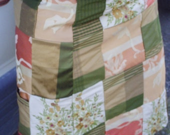 Autum Patchwork Wrap Skirt up to Size 12 Women's Clothing