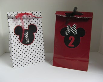 mickey minnie mouse favor bags