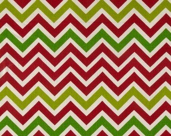 NEW SALE PRICE!!! Chevron Window Valance in Lipstick Red, Chartreuse, Lime & Natural Zoom Zoom Fabric Christmas Colors