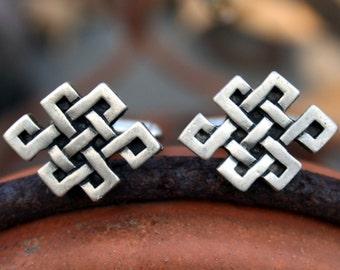Cufflinks - Cuff Links - Tibetan Knot - Celtic Knot
