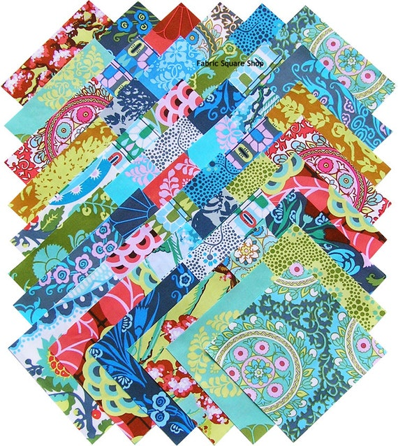 "Amy Butler CAMEO 5"" Fabric Quilting Squares Westminster Fibers"