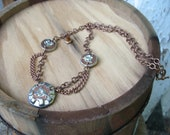 Copper Steampunk Earthenwood Gear Necklace (PRICE REDUCED)