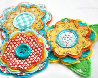 Fresh Picked Flowers (Georgia) -- Handmade Fabric and Felt Adornments