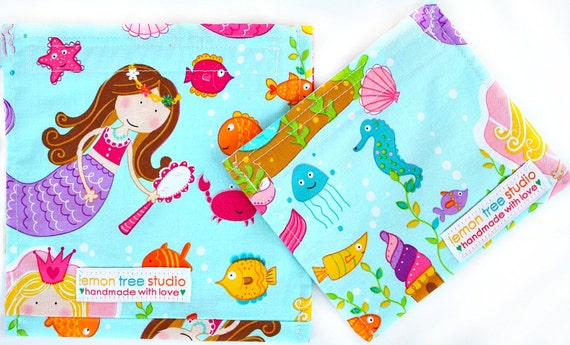 Set of 2 Eco Friendly Reusable & Water-Resistant Snack Sacks -- Back to School Collection