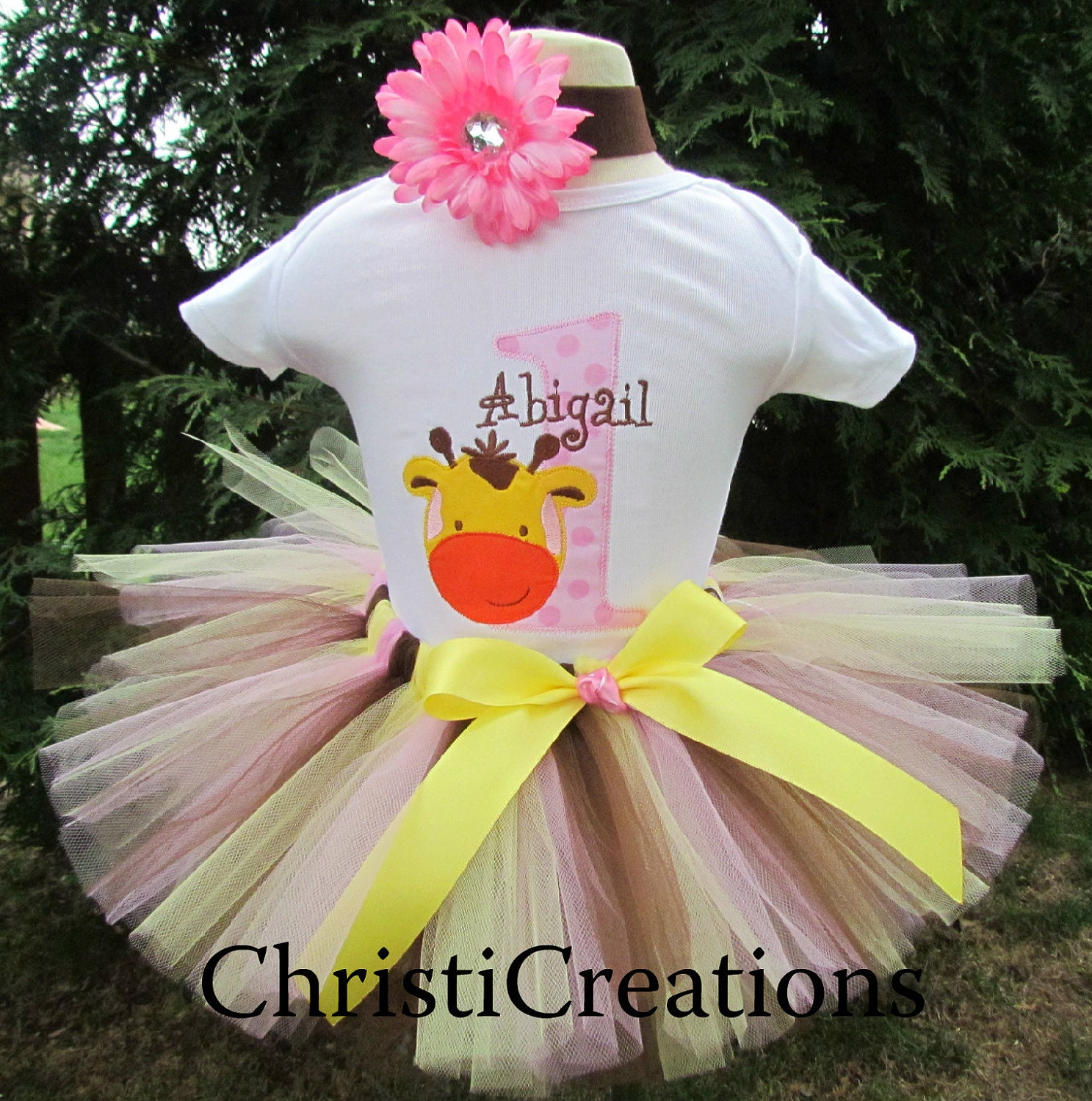 Items similar to Baby Girl 1st Birthday Tutu set--Party Outfit ...