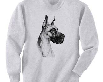 Great Dane Dog Art Men's Sweatshirt Small - 2XL