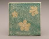SALE Flowers- 4x4 inch ceramic tile-Ruchika Madan