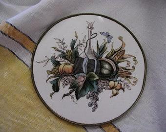 Antique Porcelain Tile Trivet
