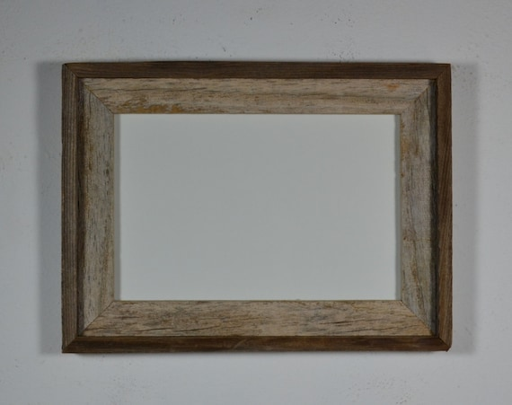 Old barnwood picture 8x12 frame gorgeous light gray patina