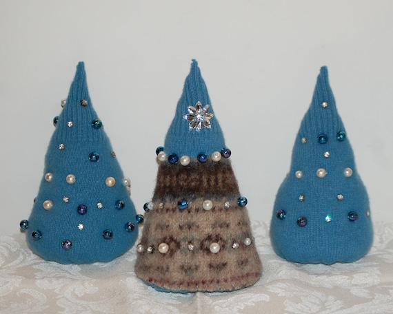 Felted Wool Christmas Trees Christmas Tree Trio With By
