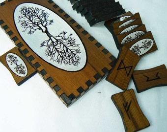 Silver World Tree Cedar  Norse Runes