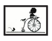 Ruby Gloom Silhouette Easy Cross Stitch Pattern Instant Download