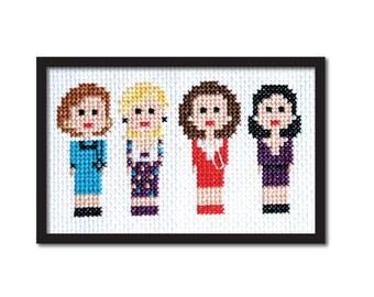 Designing Women 90s TV Cross Stitch Pattern Instant Download