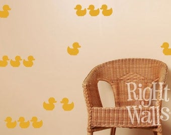 Rubber Ducky Duck 24pc Vinyl Wall Decals Duck Vinyl Wall Art Removable Bathroom Wall Decor