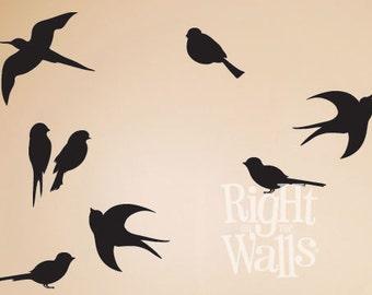 Birds Wall Art bird wall decal | etsy