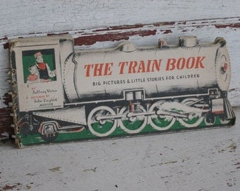 Antique Childrens Book The Train Book by Jeffrey Victor and John English (0422-PB)