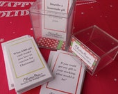 INSTANT DOWNLOAD - ChatterBox Conversation Game 'Home for the Holidays' Edition